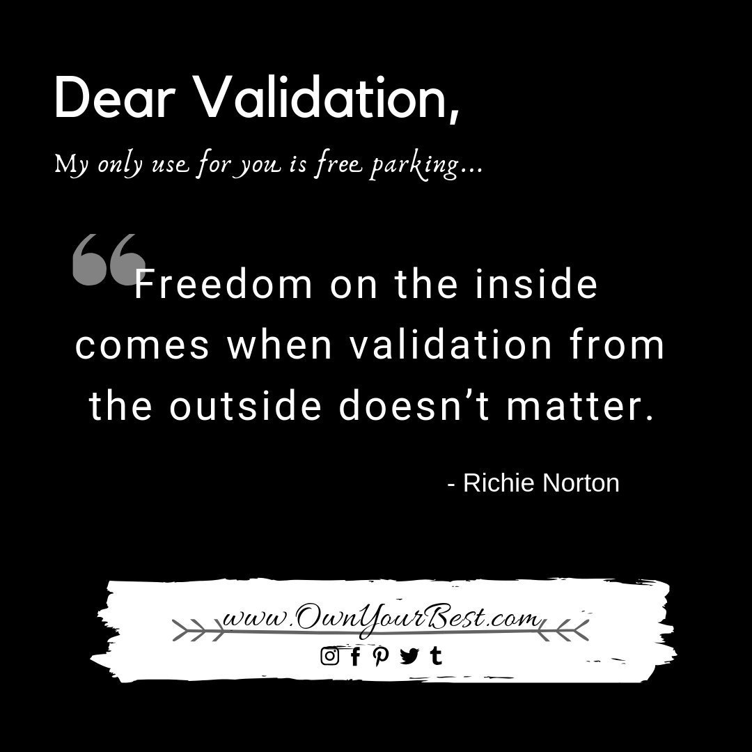 Dear seeking approval and validation