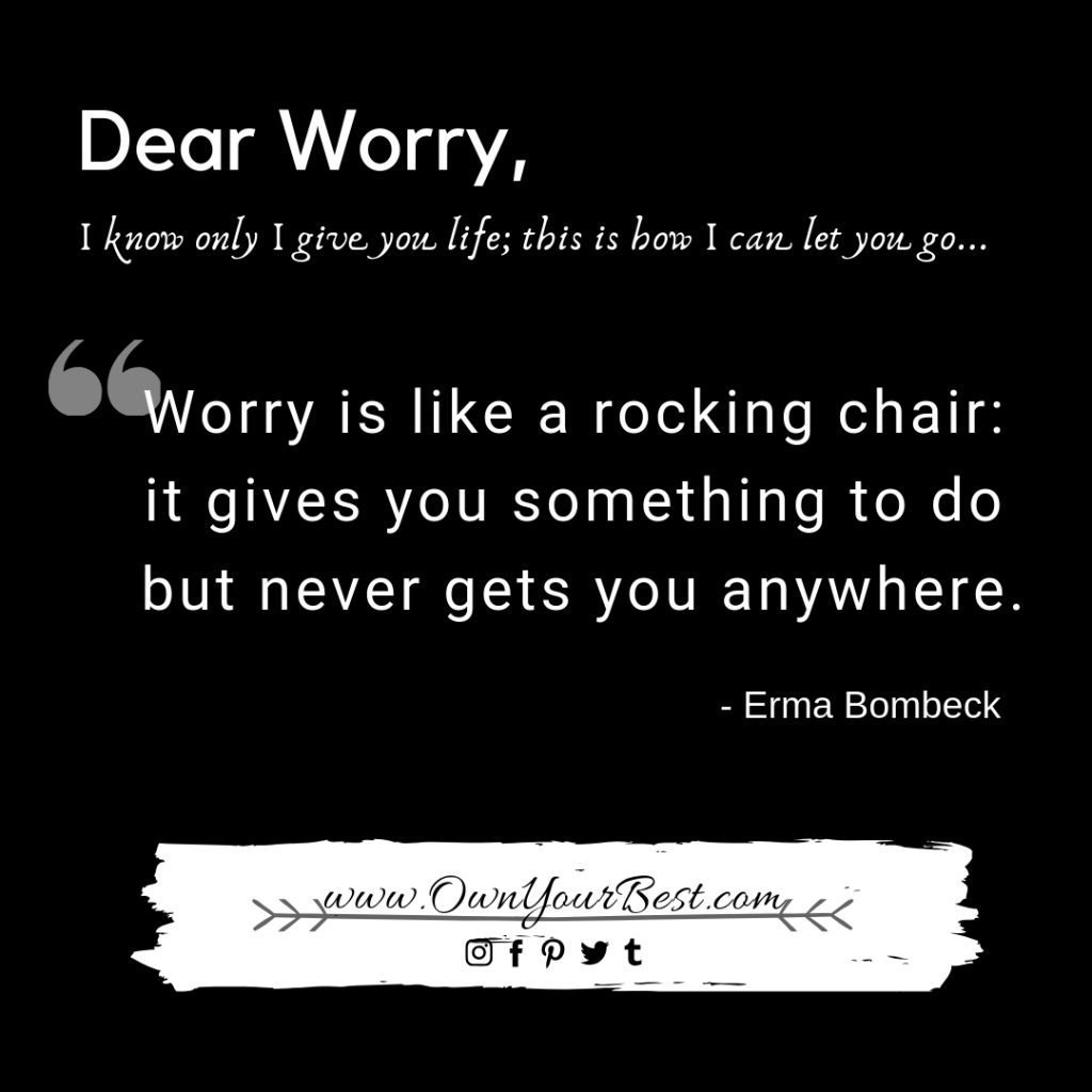 How to stop excessive worrying